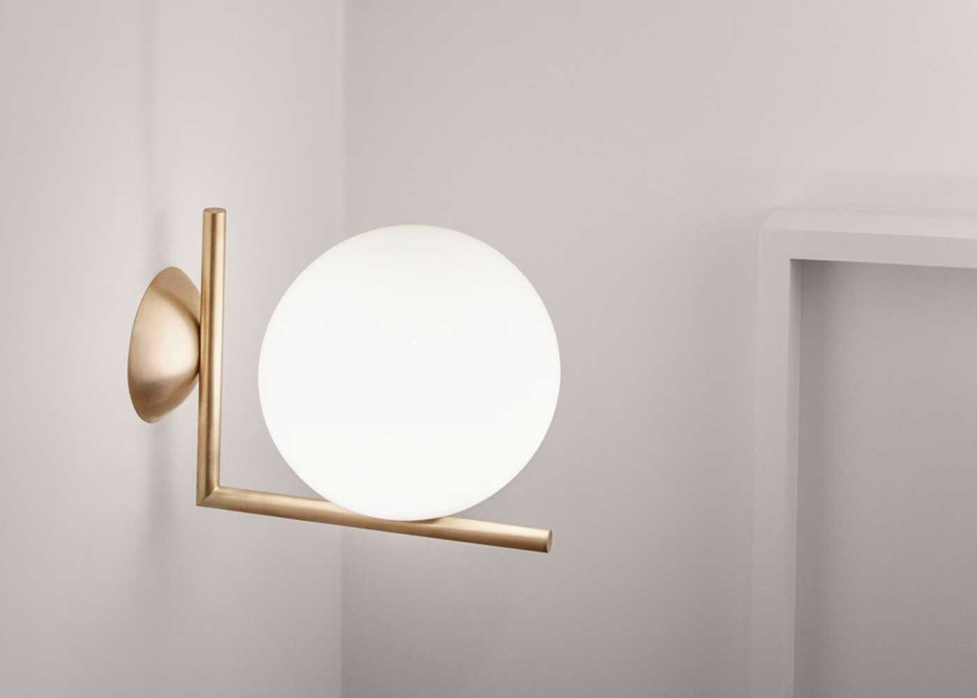 Flos ic ceiling wall lamp buy online campbell watson store