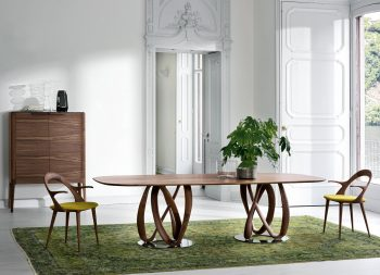 Infinity Wooden Oval Table